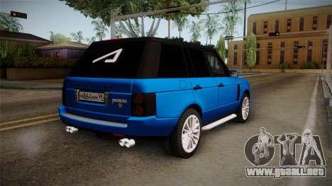 Range Rover 2008 para GTA San Andreas left