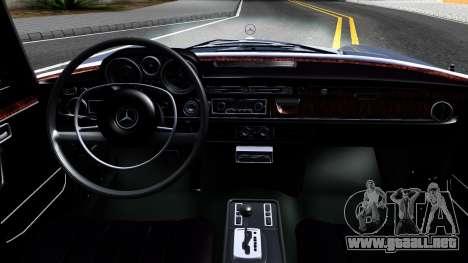 Mercedes-Benz 300SEL 6.3 para la vista superior GTA San Andreas