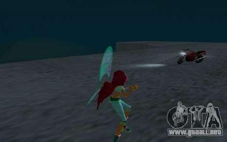 Aisha Believix from Winx Club Rockstars para GTA San Andreas sucesivamente de pantalla
