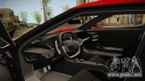 Ford GT 2017 No Stripe para visión interna GTA San Andreas