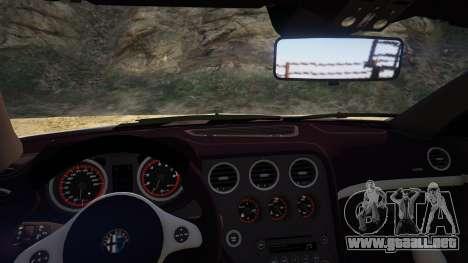 GTA 5 Alfa Romeo Spider 939 (Brera) vista trasera