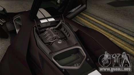 Ford GT 2017 Heritage Edition para GTA San Andreas interior
