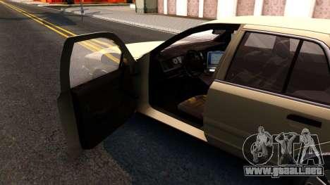 Ford Crown Victoria Unmarked 2009 para visión interna GTA San Andreas