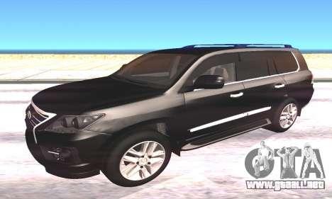 Lexus LX570 para GTA San Andreas left