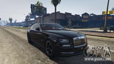 GTA 5 Rolls-Royce Wraith 2015 vista trasera