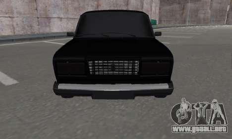 VAZ 2107 Black Jack para GTA San Andreas vista posterior izquierda