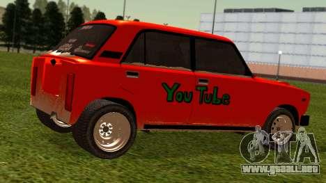 VAZ 2105 parche 4.0 para GTA San Andreas vista posterior izquierda