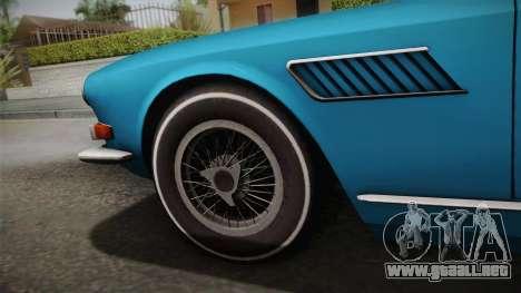 Maserati Serbin 4000 v0.1 (Beta) para GTA San Andreas vista posterior izquierda