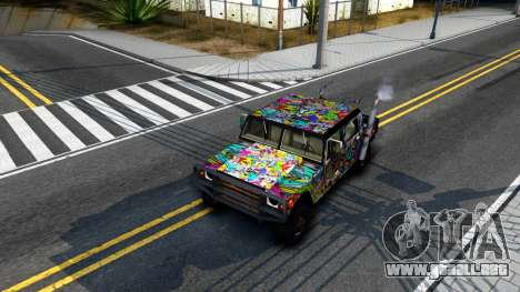 Sticker Patriot para visión interna GTA San Andreas