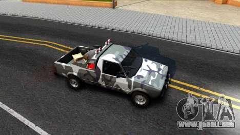 Volkswagen Caddy para GTA San Andreas vista hacia atrás
