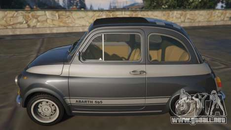GTA 5 Fiat Abarth 595ss Racing ver vista lateral izquierda