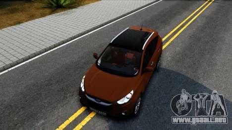 Hyundai ix35 Aze para visión interna GTA San Andreas