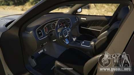 GTA 5 Dodge Charger 2016 vista lateral derecha
