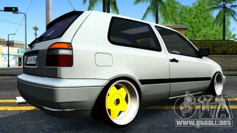 Volkswagen Golf 3 Low para GTA San Andreas left