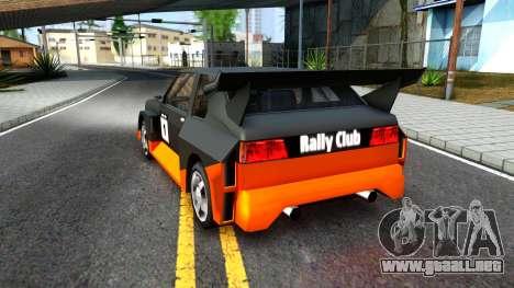 Rally Club para GTA San Andreas vista hacia atrás