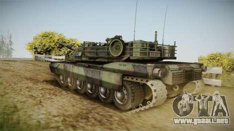 Abrams Tank Woolant Camo para GTA San Andreas left