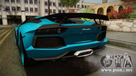 Lamborghini Aventador Itasha Rias Gremory para vista inferior GTA San Andreas