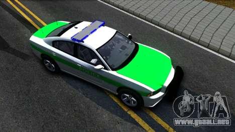 Dodge Charger German Police 2013 para la visión correcta GTA San Andreas
