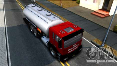 GTA V MTL Dune Oil Tanker para GTA San Andreas vista hacia atrás