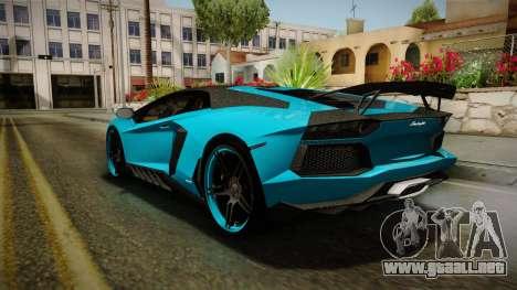 Lamborghini Aventador Itasha Rias Gremory para la visión correcta GTA San Andreas