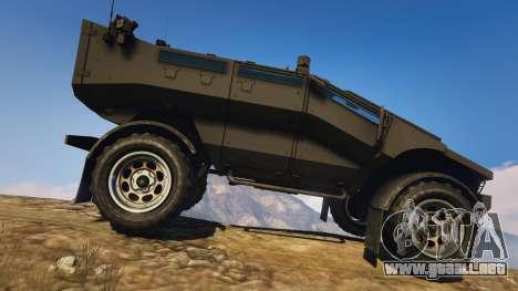 GTA 5 Punisher Unarmed Version vista lateral izquierda