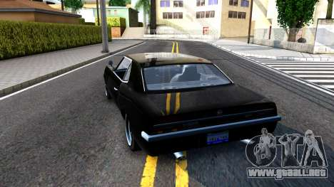 GTA V Declasse Vigero para GTA San Andreas vista posterior izquierda