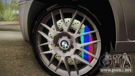 BMW X5M 2012 Special para GTA San Andreas vista posterior izquierda