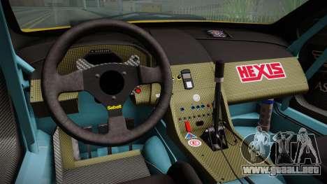 Aston Martin Racing DBRS9 GT3 2006 v1.0.6 Dirt para visión interna GTA San Andreas