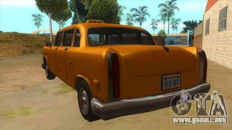 VC Cabbie Xbox para GTA San Andreas vista posterior izquierda