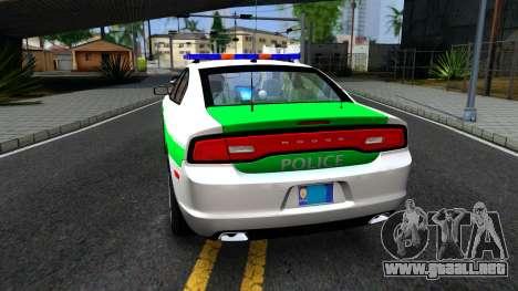 Dodge Charger German Police 2013 para GTA San Andreas vista posterior izquierda