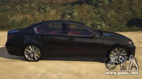 GTA 5 Lexus GS 350 vista lateral izquierda