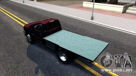 Chevrolet HD 3500 2013 para GTA San Andreas vista posterior izquierda