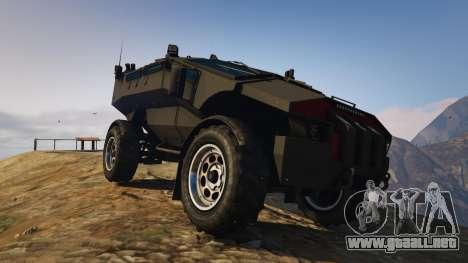 GTA 5 Punisher Unarmed Version vista trasera