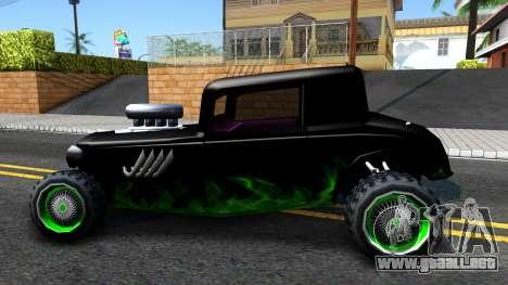 Green Flame Hotknife Race Car para GTA San Andreas left