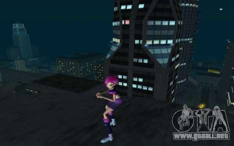Tecna Rock Outfit from Winx Club Rockstars para GTA San Andreas segunda pantalla