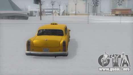 Cabbie Winter IVF para GTA San Andreas left