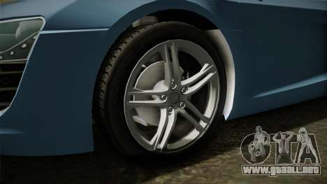 Audi R8 Coupe 4.2 FSI quattro EU-Spec 2008 YCH para GTA San Andreas vista hacia atrás