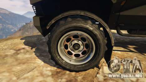 GTA 5 Punisher Black Armed Version vista lateral trasera derecha