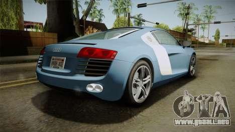 Audi R8 Coupe 4.2 FSI quattro EU-Spec 2008 YCH para GTA San Andreas left