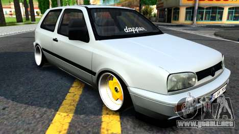 Volkswagen Golf 3 Low para GTA San Andreas
