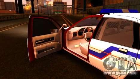 Chevy Caprice Hometown Police 1996 para visión interna GTA San Andreas