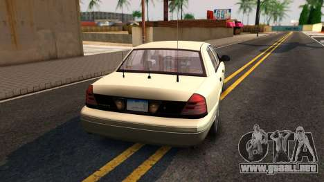 Ford Crown Victoria Unmarked 2009 para GTA San Andreas left