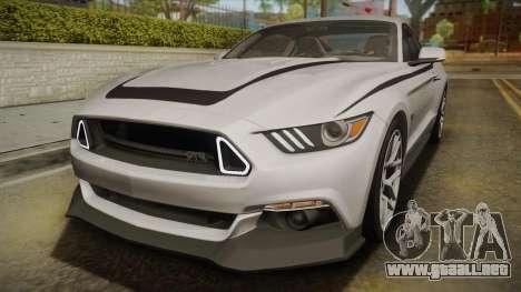 Ford Mustang RTR Spec 2 2015 para la vista superior GTA San Andreas