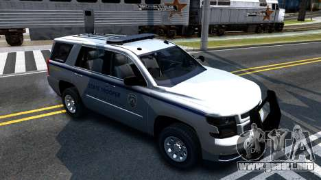 2015 Chevy Tahoe San Andreas State Trooper para GTA San Andreas left