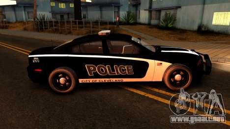 2014 Dodge Charger Cleveland TN Police para GTA San Andreas vista hacia atrás