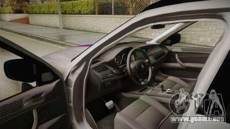 BMW X5M 2012 Special para vista lateral GTA San Andreas