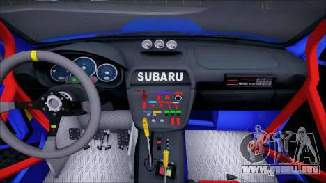 Subaru Impreza WRX STI WRC Rally 2005 para visión interna GTA San Andreas