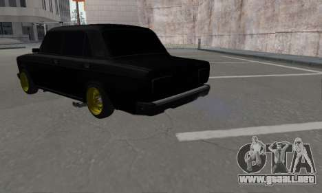 VAZ 2107 Black Jack para GTA San Andreas left