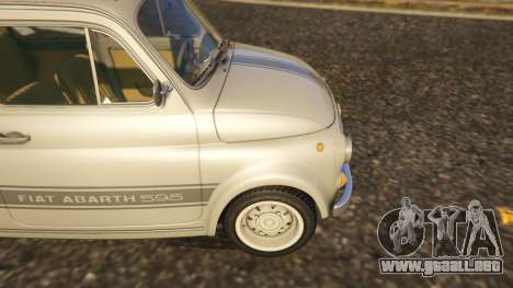 GTA 5 Fiat Abarth 595ss Street ver vista lateral trasera derecha