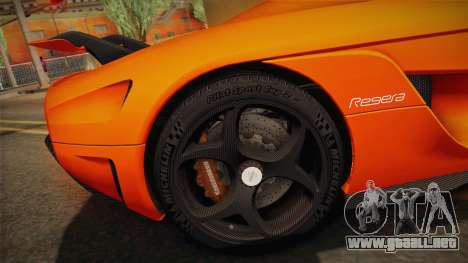 Koenigsegg Regera 2016 Bonus para visión interna GTA San Andreas